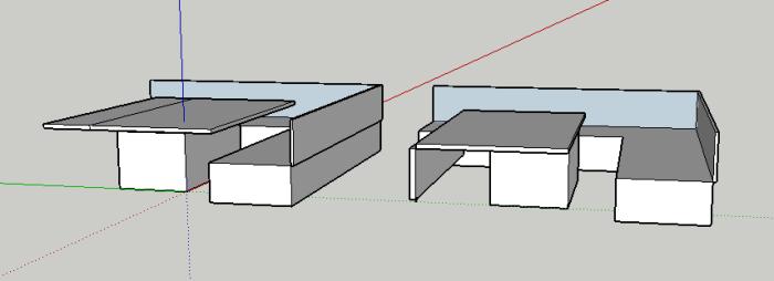 carré table tirée et ouverte